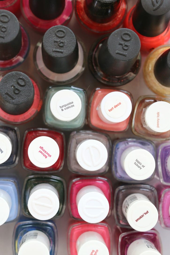 My nail collection for at home pedicures and manicures for summer nails.