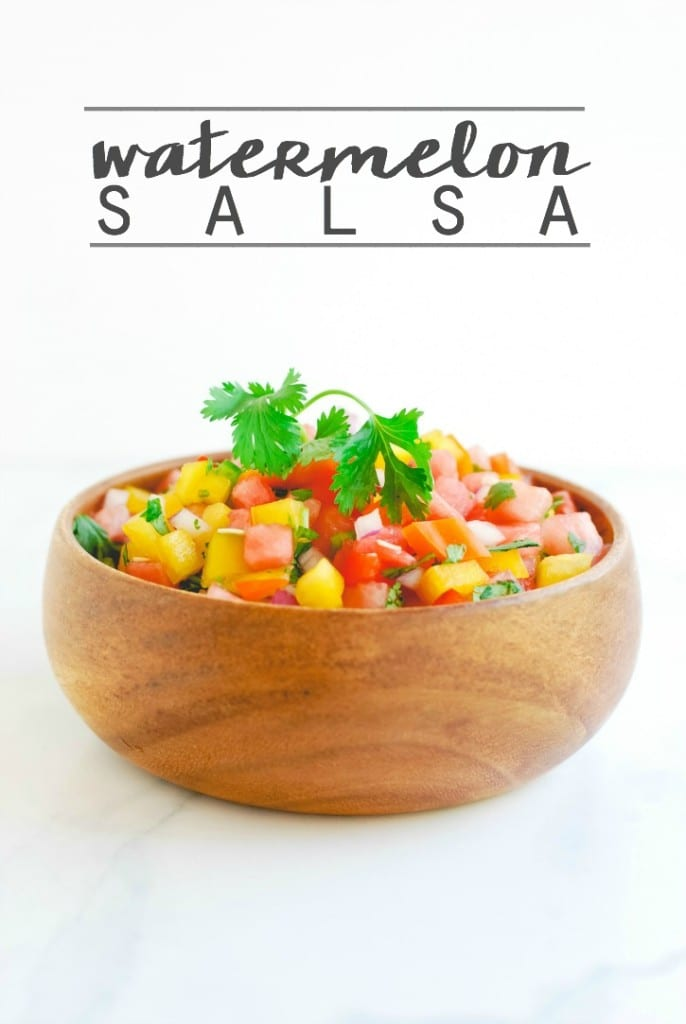Watermelon Salsa - a simple, yet flavorful appetizer for your summer festivities! (recipe on simplyhappenstance.com)