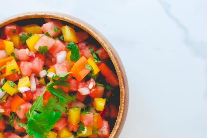 Watermelon Salsa - a summertime favorite (recipe via simplyhappenstance.com)-35