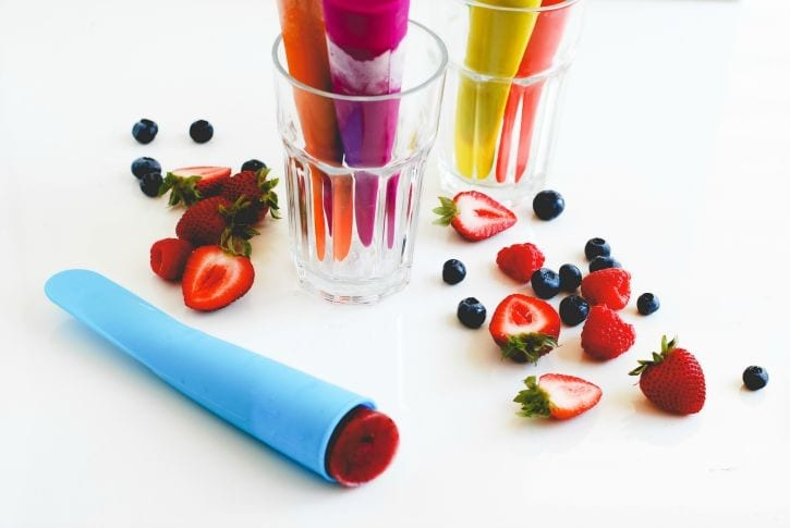 Triple Berry Smoothie Pops -11