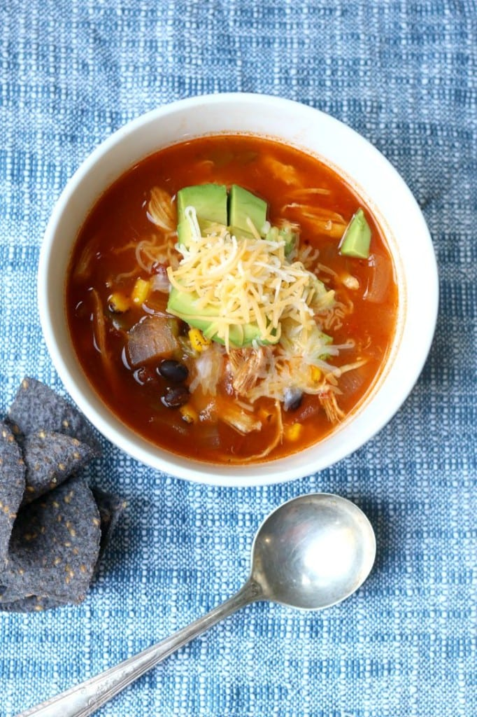 Easy weeknight meal, Slow Cooker Chicken Tortilla Soup
