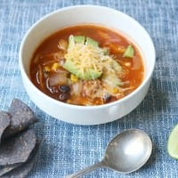 Simple yet tasty Slow Cooker Chicken Tortilla Soup