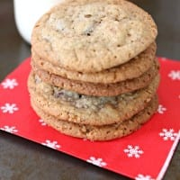 Chocolate Chip Peppermint Cookies are an oldie but a goodie. They make almost 9 dozen in one batch.