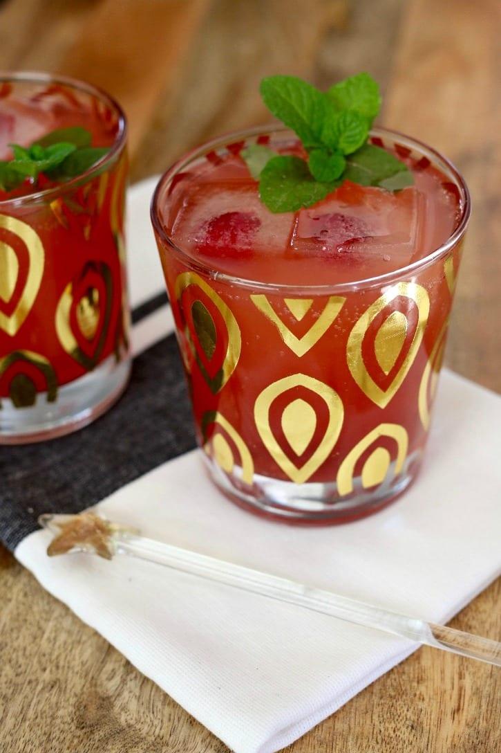 Bubbly Blood Orange and Raspberry Sparkler