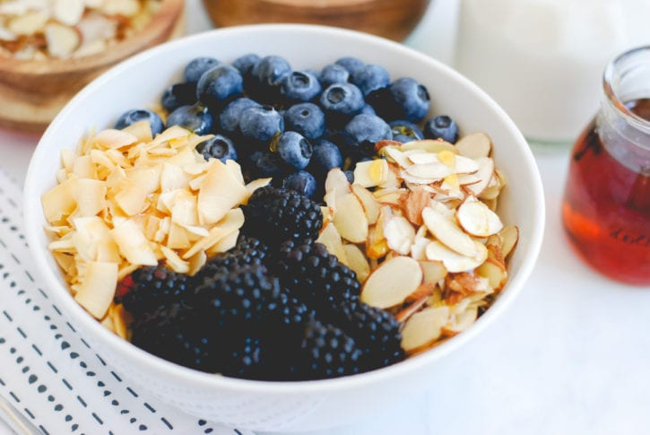 Berry Quinoa Bowl with Roasted Coconut and Slivered Almonds-15