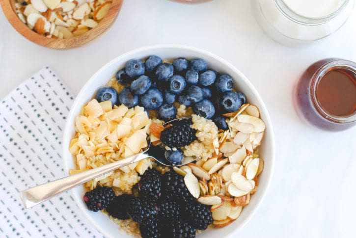 Berry Quinoa Bowl with Roasted Coconut and Slivered Almonds-32